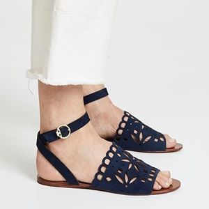 Tory Burch May suede flats sandal navy